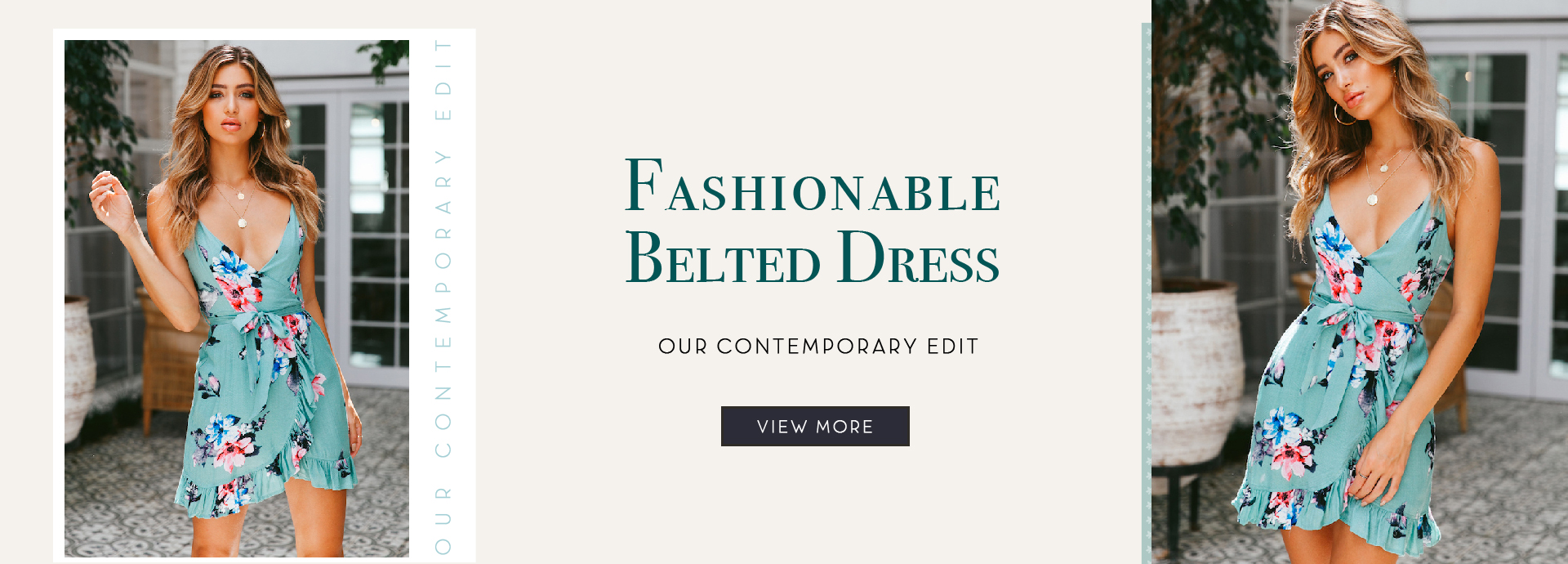 Fashionable Belted Dress