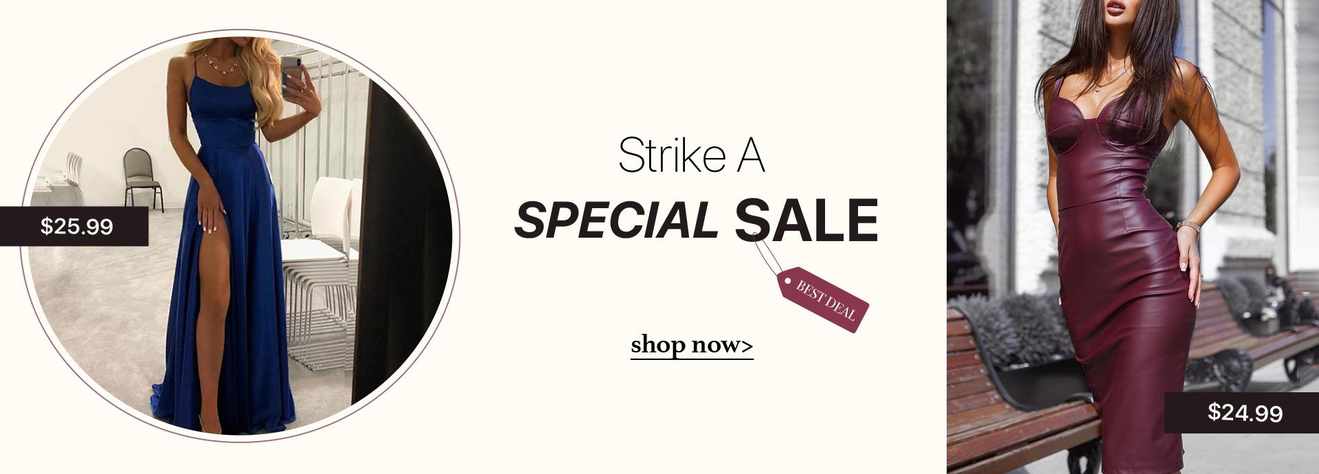 Strike A Special Sale