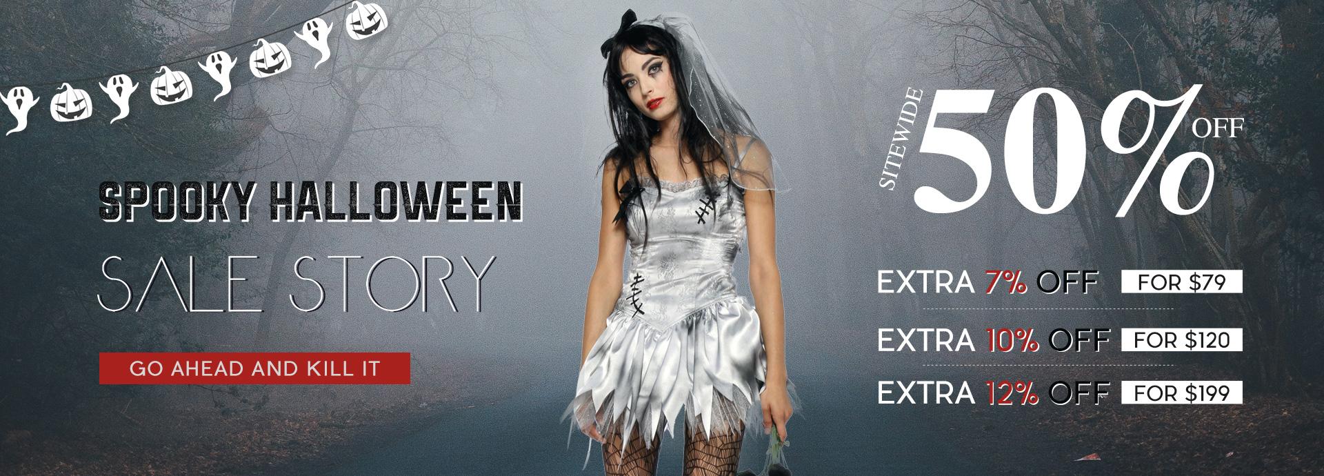 Spooky Halloween Sale Story