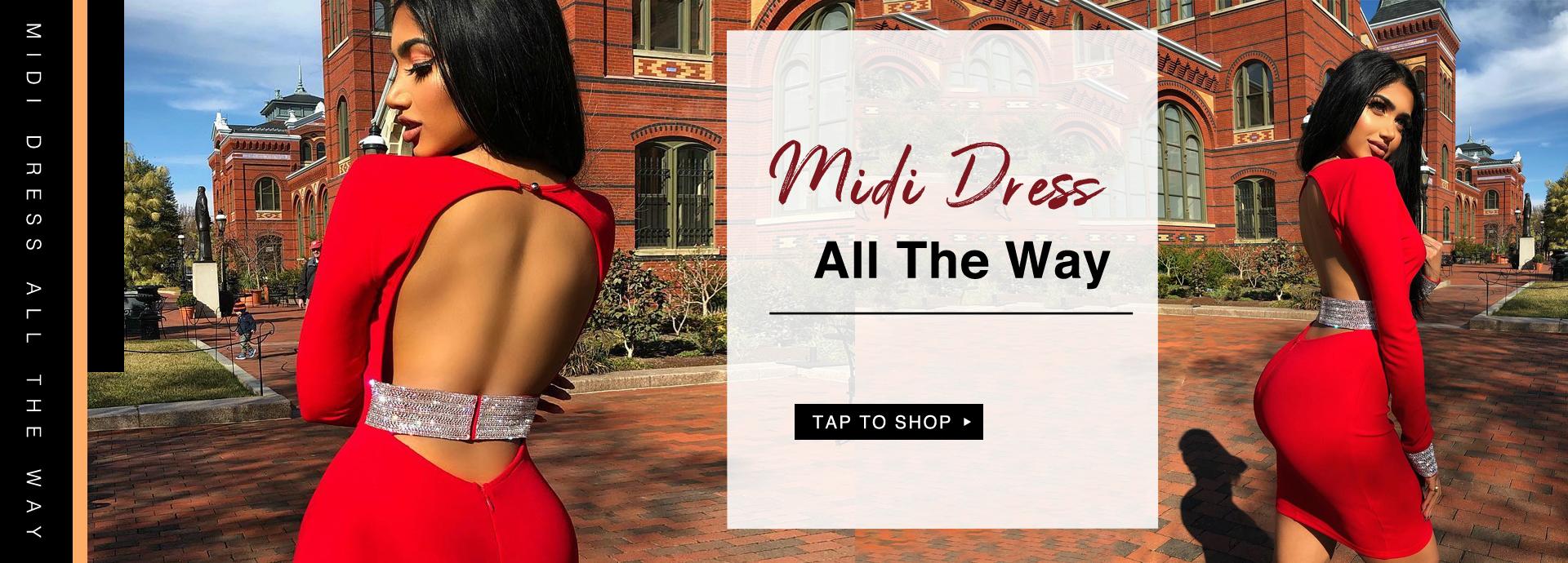 Midi Dress All The Way