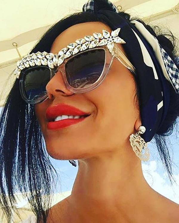 7bc7571ec9f Shiny Embellished Frame Sunglasses Online. Discover hottest trend fashion  at chicme.com