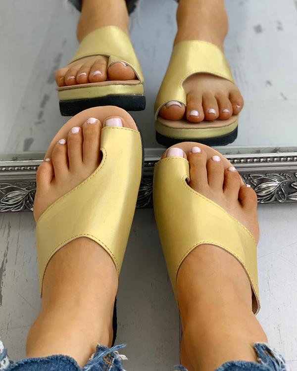 4c95e6f6f779 Toe Ring Cut Out Design Sandals Online. Discover hottest trend fashion at  chicme.com