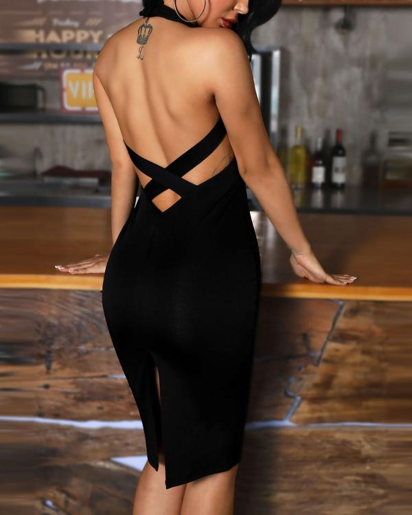2a8abd274d816 Sleeveless Bandage Design Bodycon Dress Online. Discover hottest trend  fashion at chicme.com