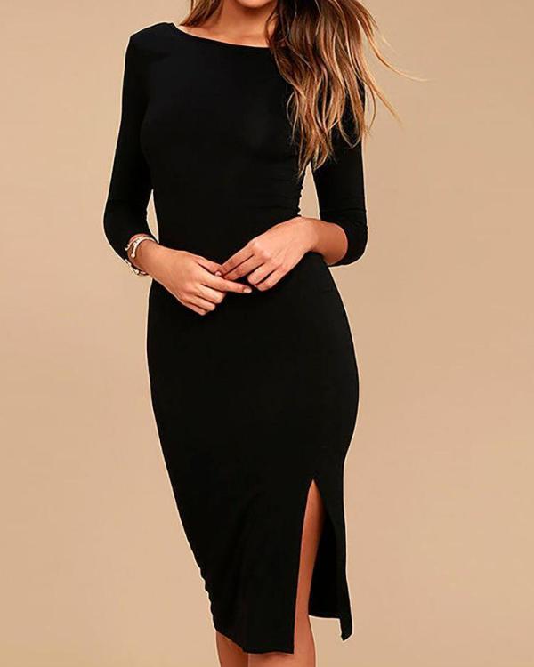 b62200d6 Open Back Side Slit Party Dress Online. Discover hottest trend fashion at  ivrose.com