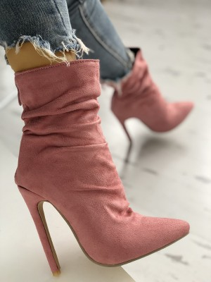 Suede Thin Heeled Boots