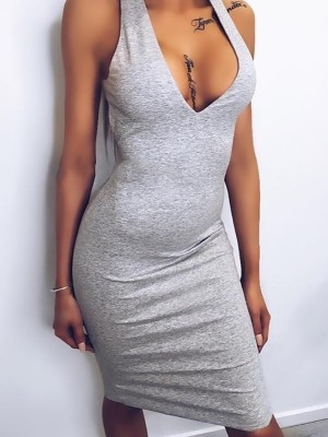 Sexy Halter Neck Backless Cocktail Party Bodycon Dress