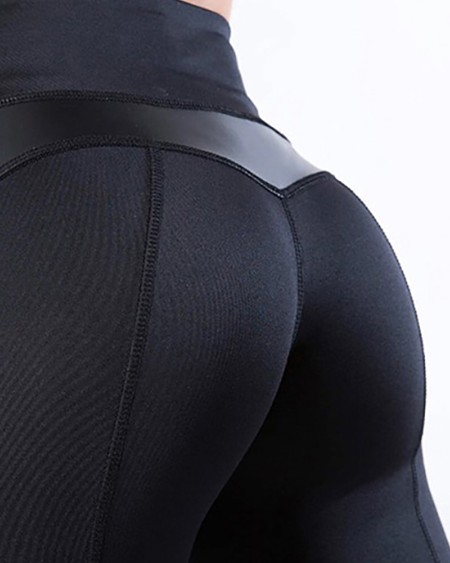High Waist Sheer Mesh Skinny Leggings