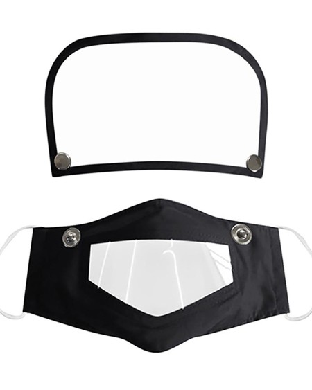 Face Mask With Clear Window Visible Expression For Lip Reading With Eyes Shield