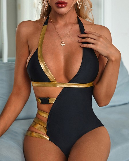 Bandage One Piece Swimwear