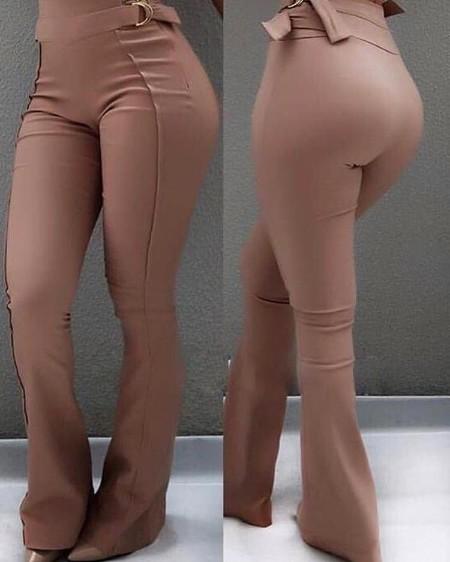 High Waist Flared Bottom Pants