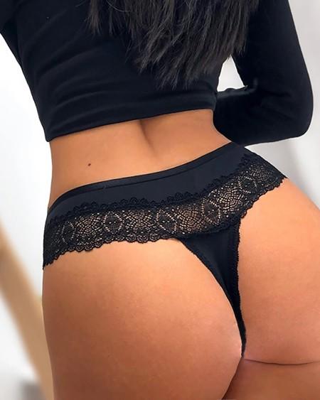 Lace Bowknot Detail Bandage Panty