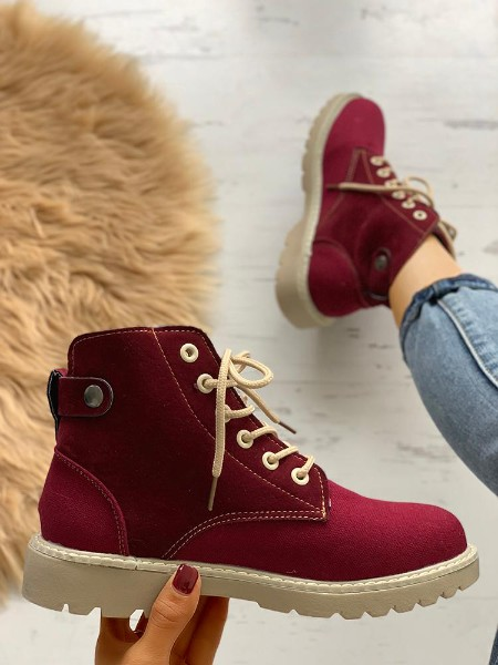 Non-Slip Lace-Up Eyelet Martin Boots