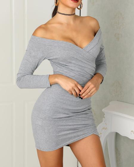 boutiquefeel / Off Shoulder Wrpped Bodycon Dress