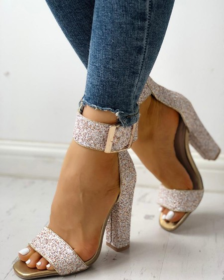 3c903d0bc05 Shiny Embellished Thin Heeled Sandals Online. Discover hottest trend ...
