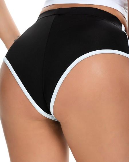 High Waist Colorblock Yoga Shorts