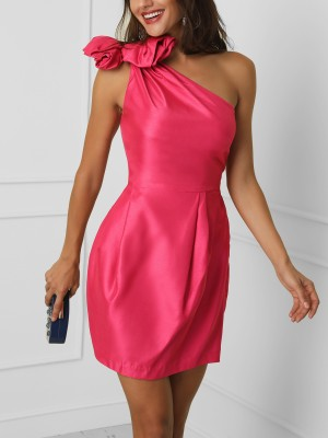 One Shoulder Knotted Detail Party Dress