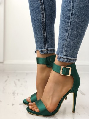 Fashion Open Toe Cocktail Party Thin Heel Pump