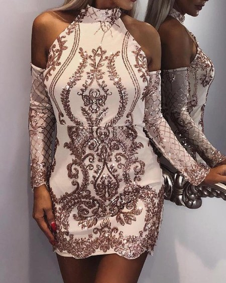 f2609ed6ddd1 Sleeveless Bodycon Sequin Party Dress. $29.99 ·  . Cold Shoulder ...