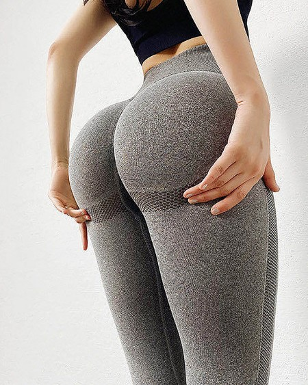 Gym Yoga Seamless Pants Sports Lifting Stretchy High Waist Athletic Fitness Leggings