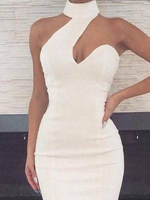 Halter Cut Out Front Party Dress