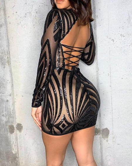 Backless Strappy Bodycon Mini Dress