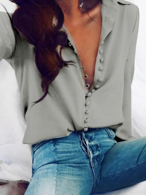 Sexy Long Sleeve Loose Blouses