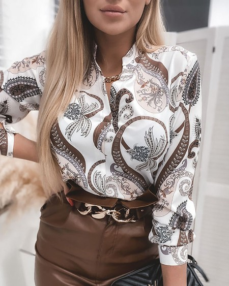All Over Print Long Sleeve Shirt