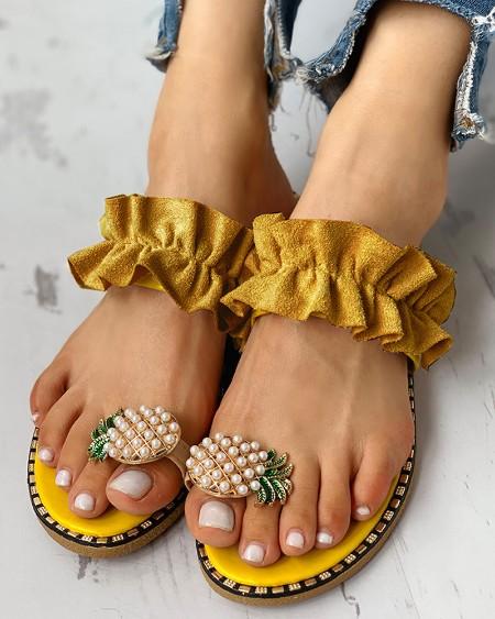 23af317d43b6 Floral Embellished Toe Ring Casual Sandals. $26.99 $27.99 4% OFF ·  
