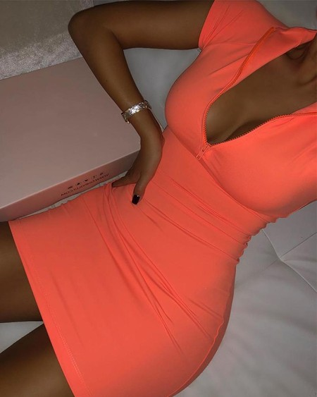 Sexy Deep V Bodycon Mini Dress