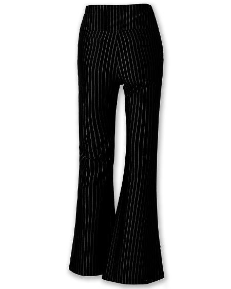 boutiquefeel / Striped High Waist Bell-Bottom Pants