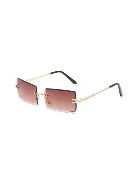 1Pair Rimless Rectangle Tinted Lens Sunglasses