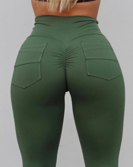Plain High Waist Skinny Yoga Pants