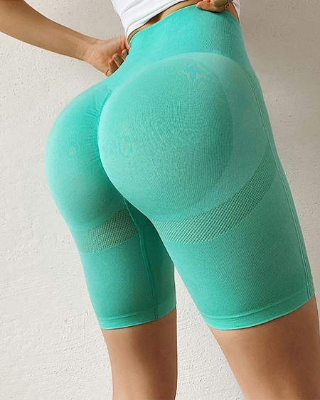 Solid Color Skinny Yoga Short Pants