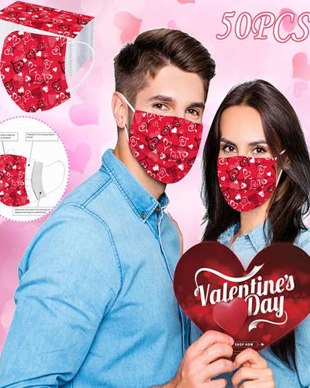 Valentine's Day Disposable Face Mask