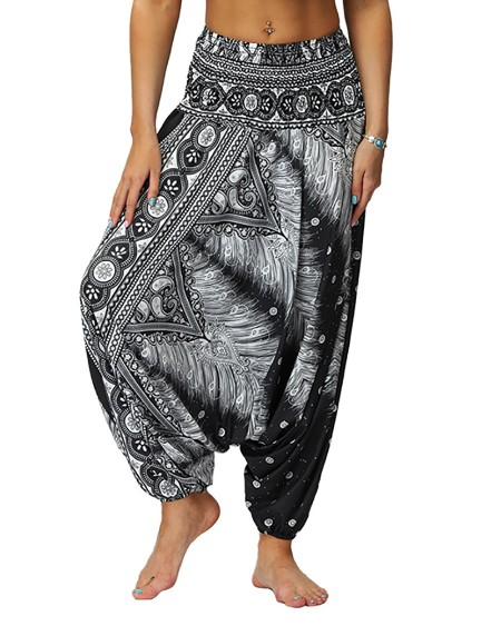 boutiquefeel / Print Wide Leg High Waist Yoga Pants