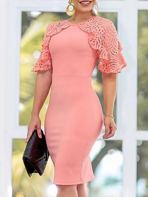 Lace Crochet Patchwork Bodycon Dresses