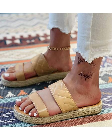 Round-toe Double-straps Open-toe Platform Sandals