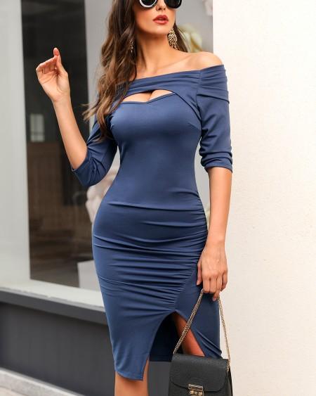 boutiquefeel / Off Shoulder Cut Out Bodycon Dress