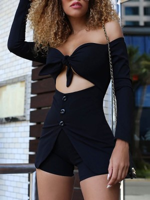 5f652bae2c9 Asymmetrical Layered Hem Cut Out Back Playsuit Online. Discover ...