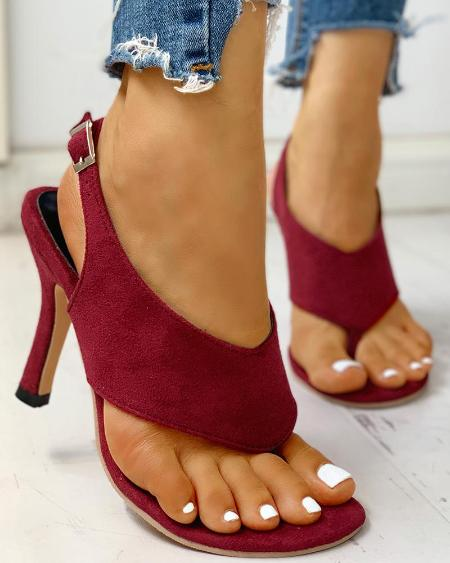 boutiquefeel / Toe Post Slingback Thin Heeled Sandals