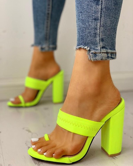 cbac406c1d Colorful Geo Applique Chunky Heeled Sandals. $31.99 $35.99 11% OFF ·  . Toe  Ring ...