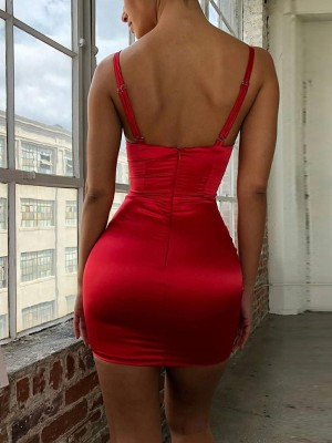 Multi-strap Backless Bodycon Dress