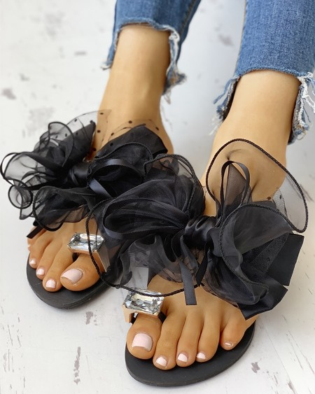 Women's Cute Bowtie Decorate Non-Slip Sandals