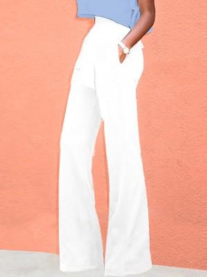 Trendy High Waist Belted Wide Leg Pants