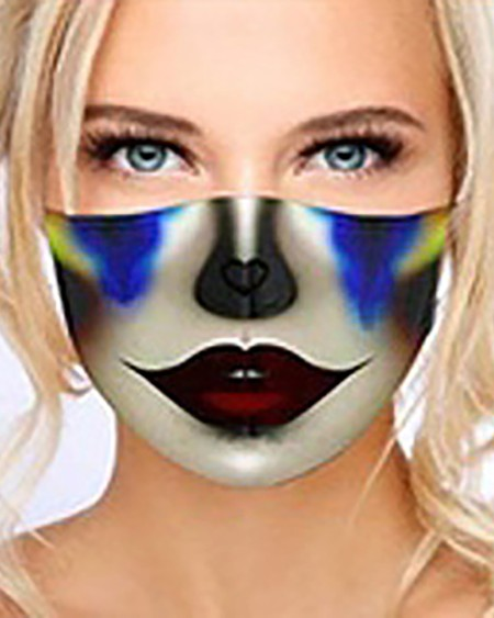 Graphic Print Breathable Washable Face Mask