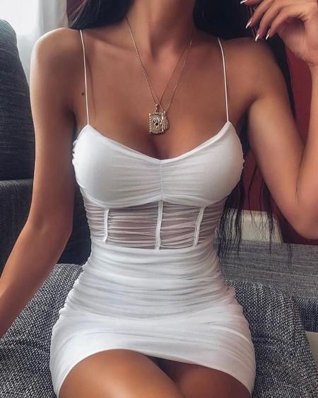 See-through Mesh Cami Dress