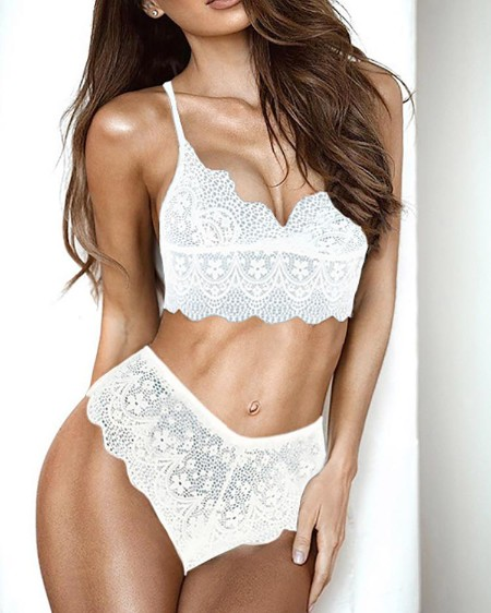 54d7ee973 Sexy See Through Lace Strappy Lingerie Sets ...