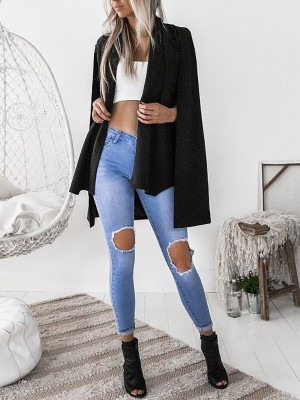 Fashion Cape Sleeve Tailored Blazer Coat