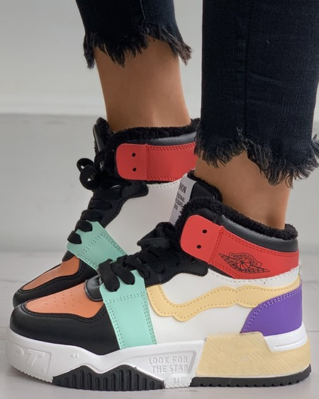 boutiquefeel / Colorblock Lace-up Sneaker