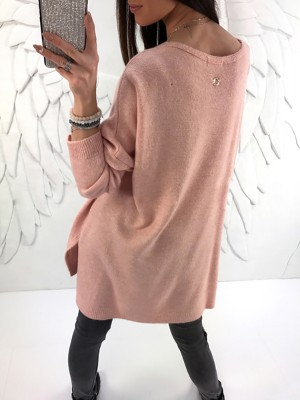 Fashion Split High-low Hem Casual Sweater Dress